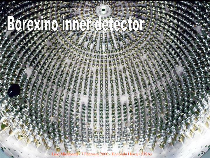 Borexino inner detector