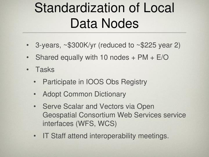 Standardization of Local Data Nodes