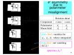 e asymmetry due to polarimeter misalignment
