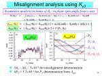 misalignment analysis using k m 3