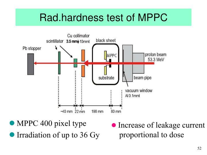 Rad.hardness test of MPPC