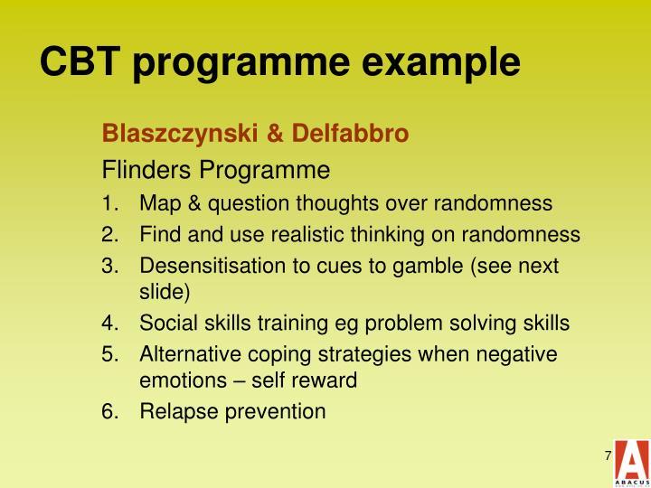 CBT programme example