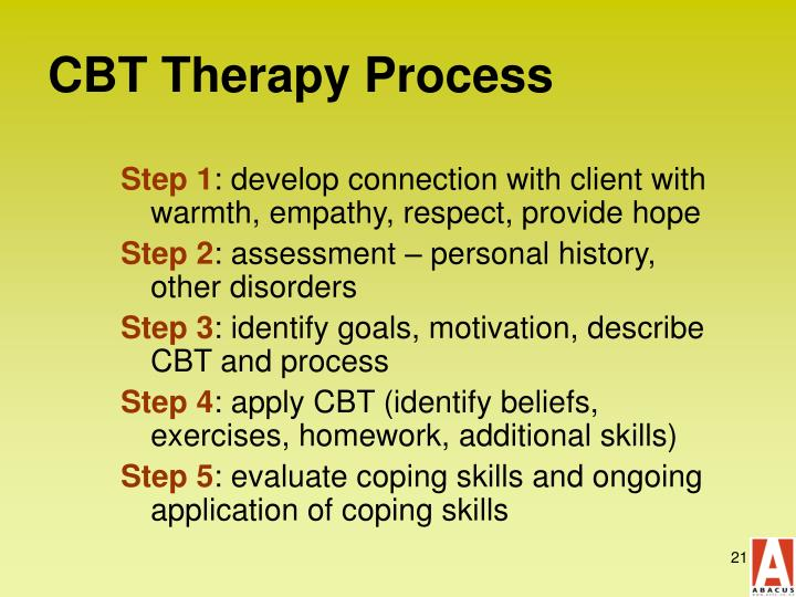 CBT Therapy Process