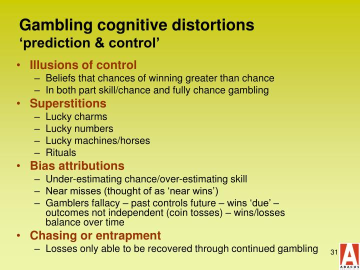 Gambling cognitive distortions