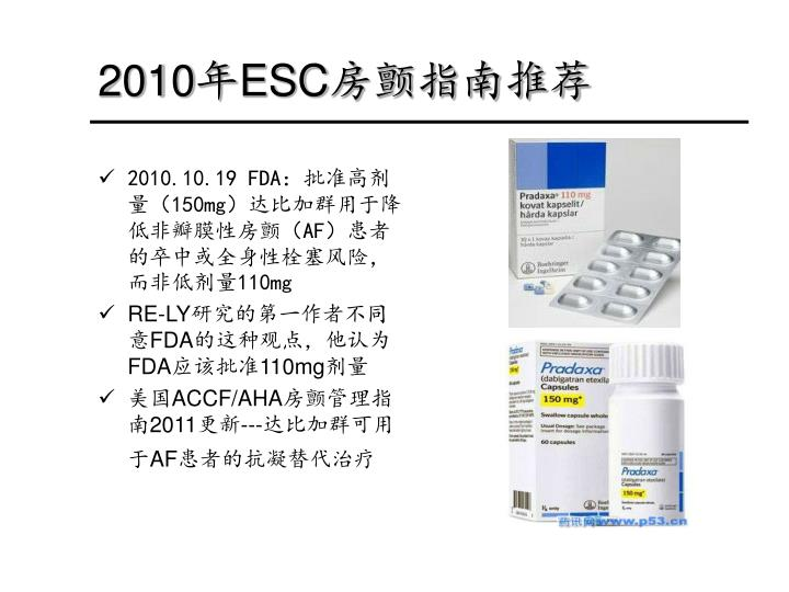 2010年ESC房颤指南推荐