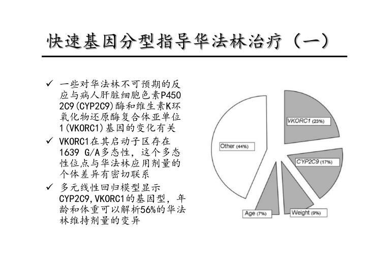 快速基因分型指导华法林治疗
