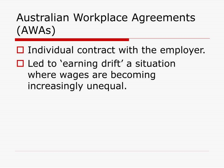 Australian Workplace Agreements (AWAs)