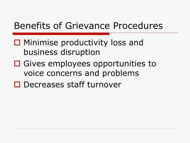 Benefits of Grievance Procedures