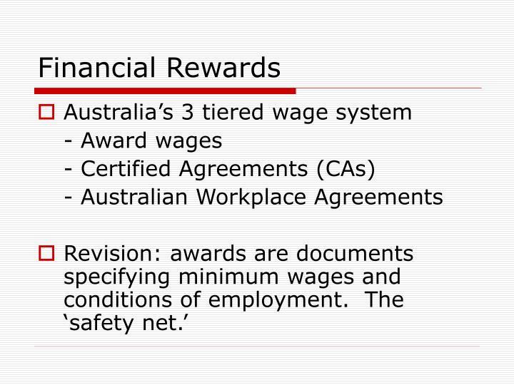 Financial Rewards
