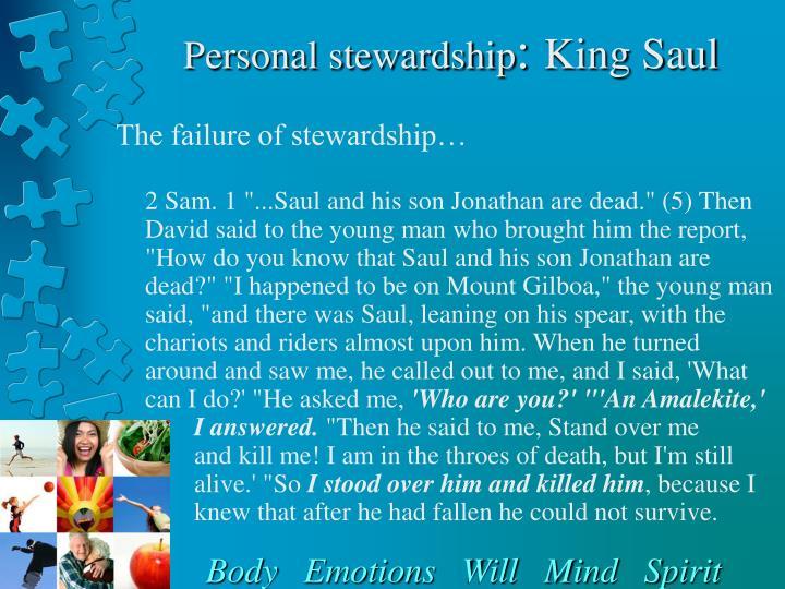 Personal stewardship