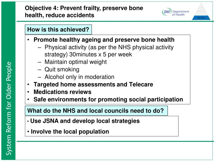 Promote healthy ageing and preserve bone health