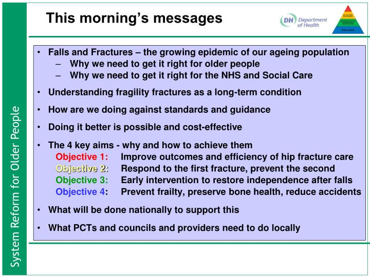 Falls and Fractures – the growing epidemic of our ageing population