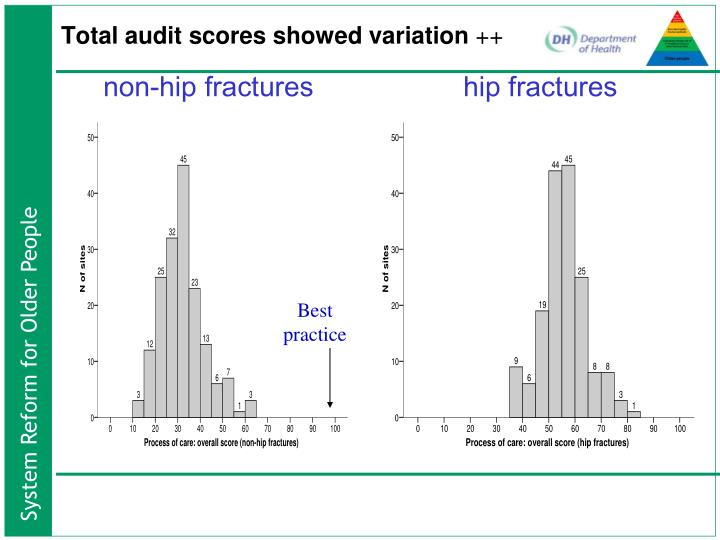 Total audit scores showed variation