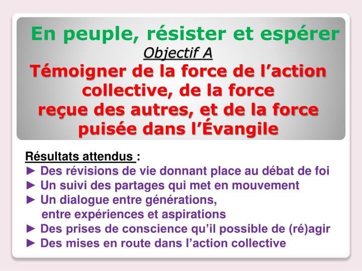Objectif A