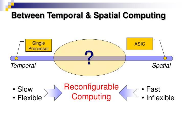 Between Temporal & Spatial Computing