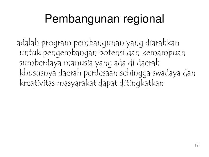Pembangunan regional