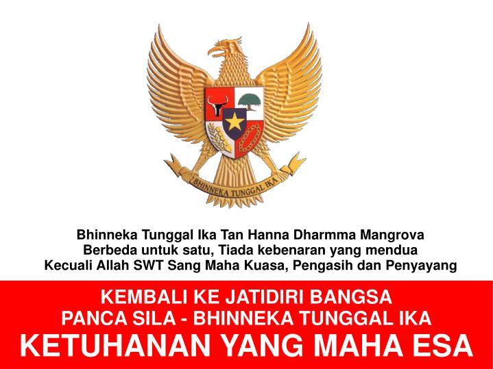 Bhinneka Tunggal Ika Tan Hanna Dharmma Mangrova