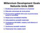 millennium development goals natiunile unite 2000