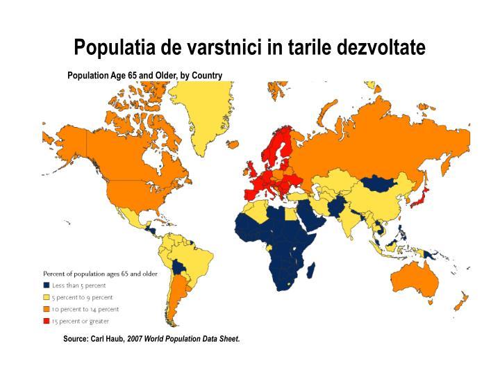 Populatia de varstnici in tarile dezvoltate