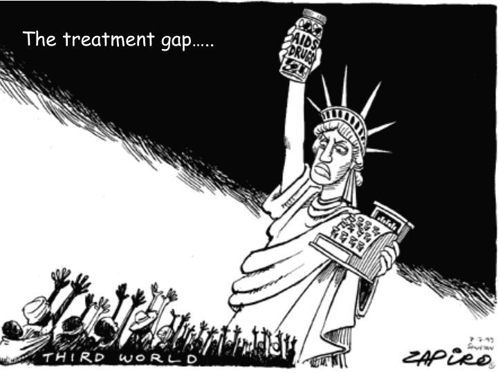 The treatment gap…..