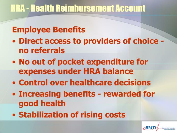 HRA - Health Reimbursement Account