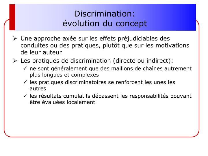 Discrimination: