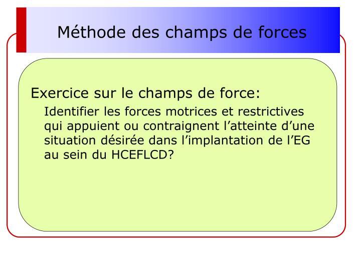 Méthode des champs de forces