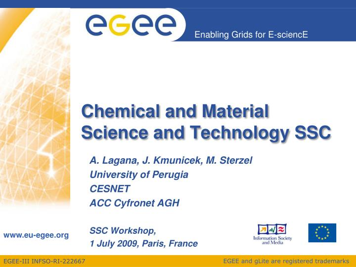 Chemical and material science and technology ssc