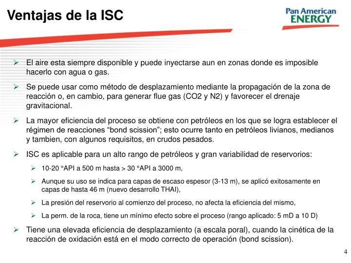 Ventajas de la ISC