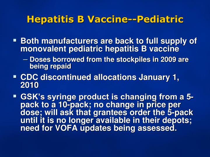 Adult formulation of hepatitis b vaccine