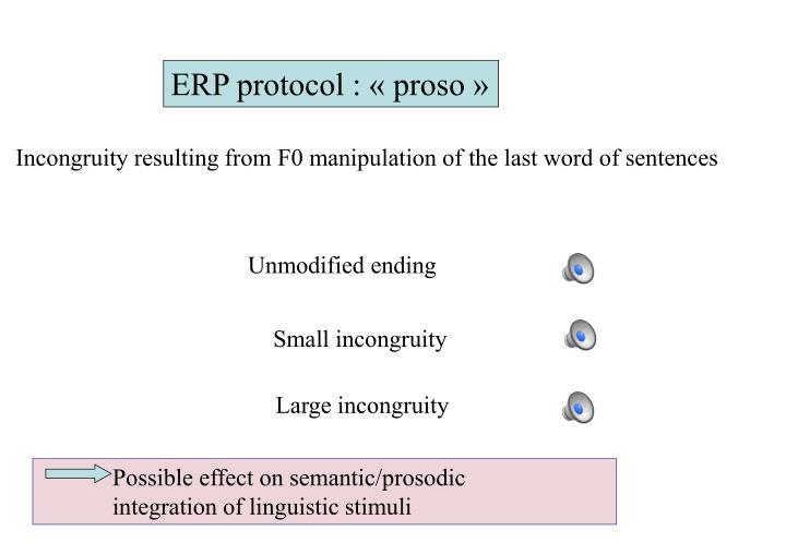 ERP protocol : «proso»