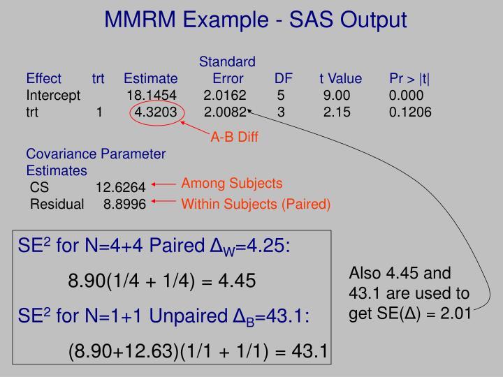 MMRM Example - SAS Output