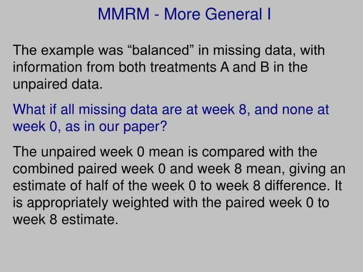 MMRM - More General I