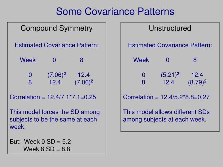 Some Covariance Patterns