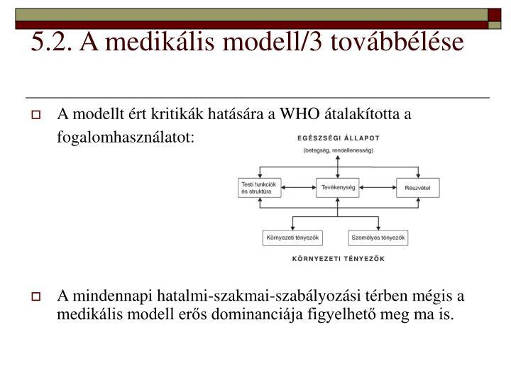 5.2. A medikális modell/3 továbbélése