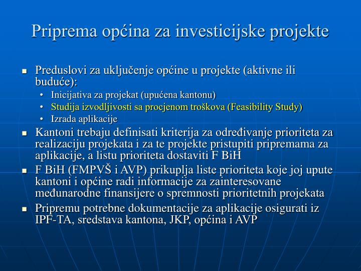 Priprema općina za investicijske projekte