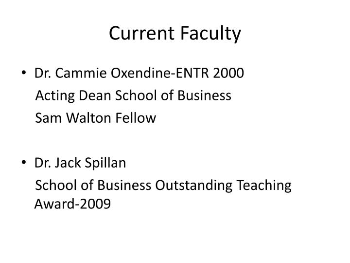 Current Faculty