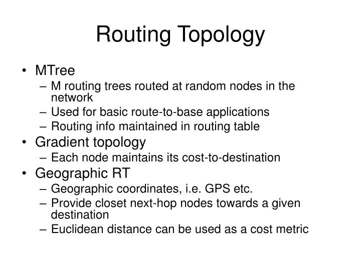Routing Topology
