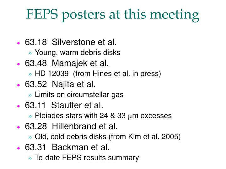 FEPS posters at this meeting