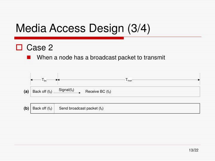 Media Access Design (3/4)