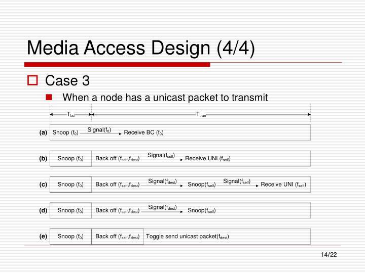 Media Access Design (4/4)