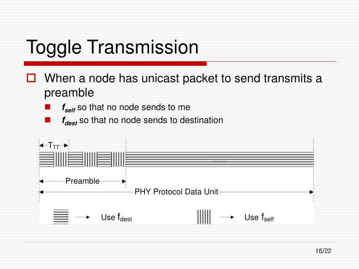 Toggle Transmission
