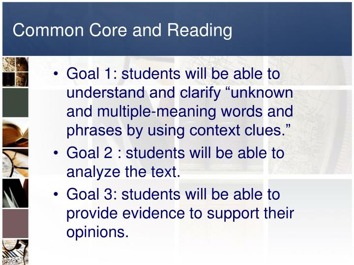 Common Core and Reading