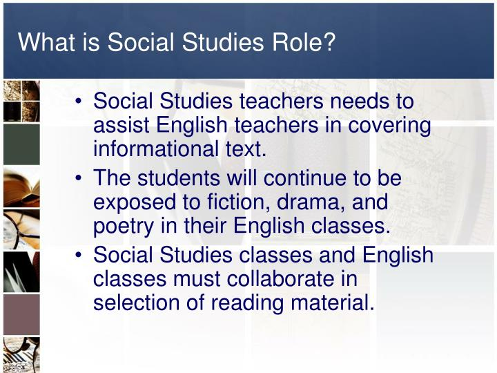 What is Social Studies Role?