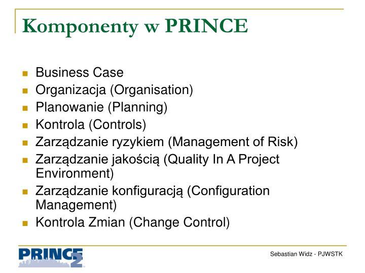 Komponenty w PRINCE