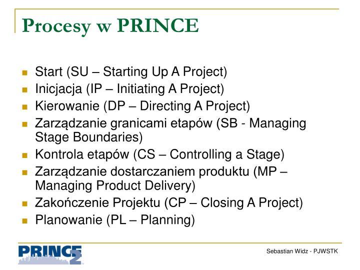 Procesy w PRINCE