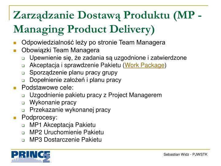 Zarządzanie Dostawą Produktu (MP -