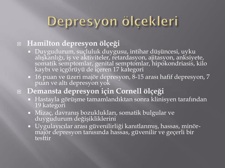 Depresyon ölçekleri