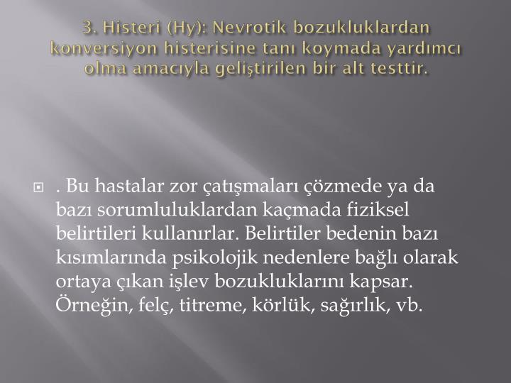 3. Histeri (