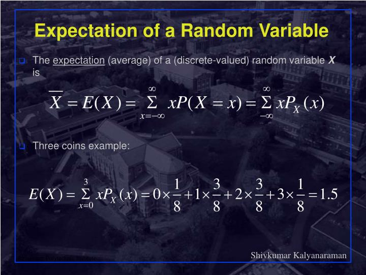 Expectation of a Random Variable